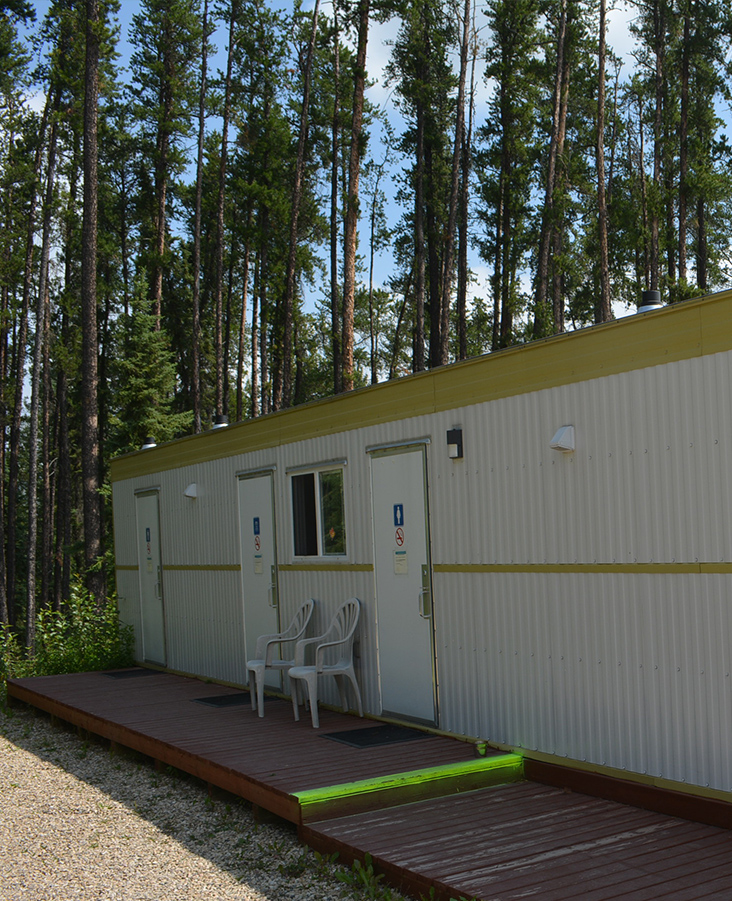 Amenities including nice, clean bathrooms - Whitecourt Lions Club Campground - Whitecourt, AB